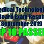 medical technologist passers top 10