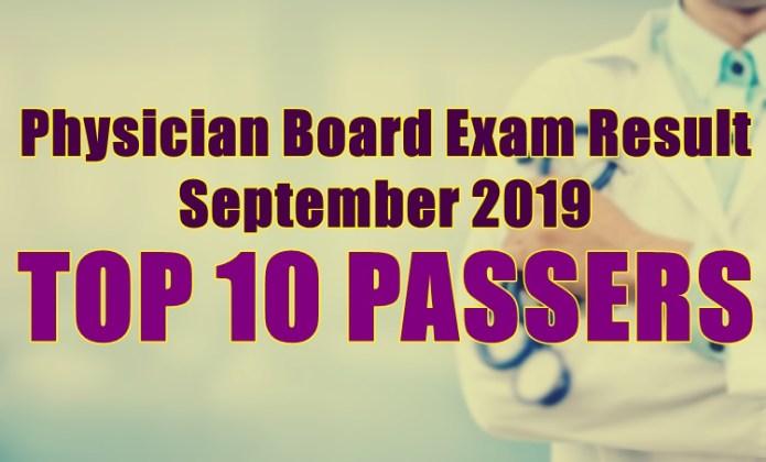 physician board exam top 10