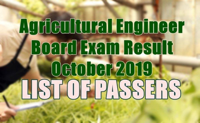 agricultural engineer passers