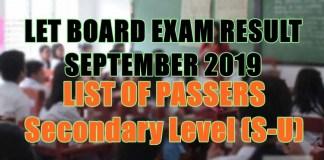let board exam sec s-u