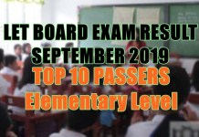 let board exam top 10 elem