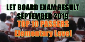 let board exam top 10 elem