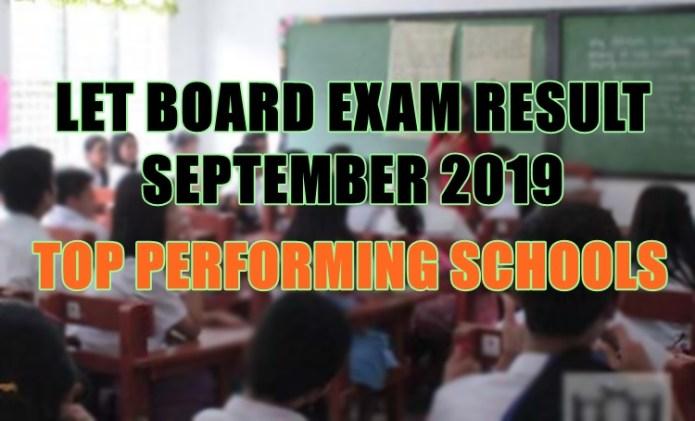 let board exam top schools