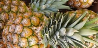 eating pineapples