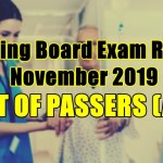 nursing board exam result passers a-h