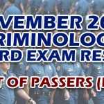 Criminology Board Exam Result November 2019