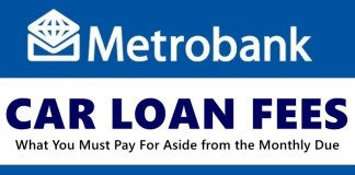 Metrobank Car Loan Fees