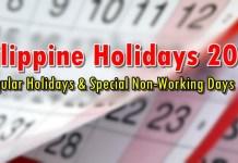 Philippine Holidays 2020
