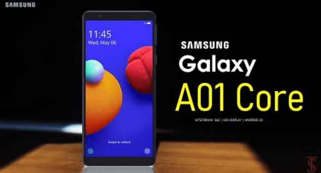Samsung Cheapest Phone For Online Classes – Galaxy A01 Core