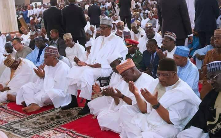 Image result for buhari almost lynched in a mosque in picture