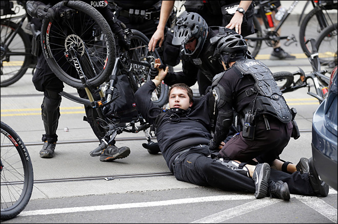 seattle police officers injured during cop caused riot
