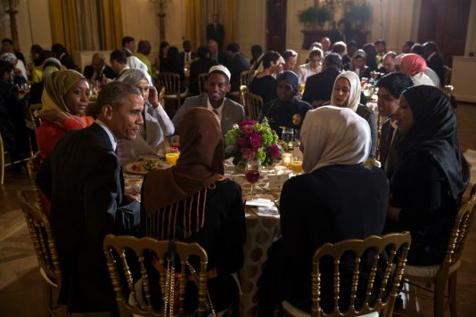 Barack Obama celebrates ramadan with fellow muslims