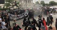 it takes a bullet to bash fascism is ANTIFA a political party are ANTIFA violent riot protestors
