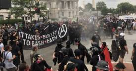it takes a bullet to bash fascism is ANTIFA a political party are ANTIFA violent riot protestors
