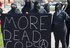 more dead cops is ANTIFA a political party are ANTIFA violent riot protestors