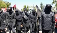 skinny white ANTIFA members a political party are ANTIFA violent riot protestors