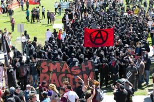 smash racism is ANTIFA a political party are ANTIFA violent riot protestors