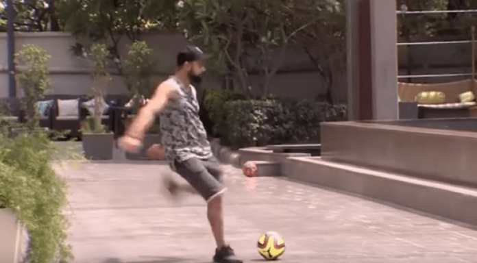 ipl ipl 2018 virat kohali bengaluru football playing football playing