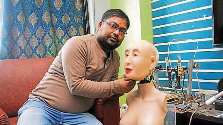 ranjit, robot, sophia, sophia robot, ism, ranchi, jharkhand, india