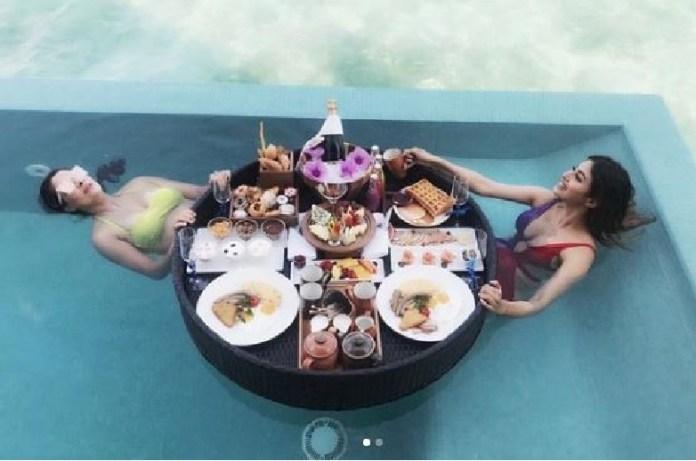 mouni roy bikini photos actress enjoying in maldives photos viral on internet