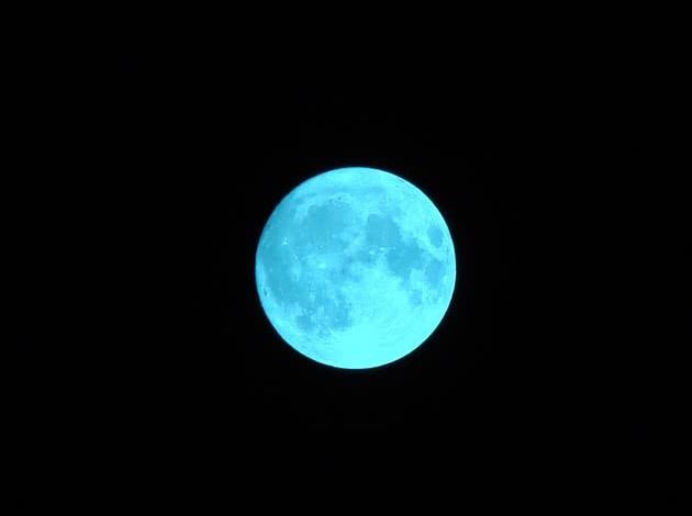 foto ilustrativa da lua azul