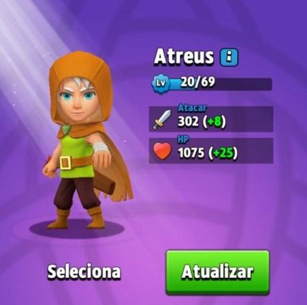Melhores Heróis de Archero - Atreus