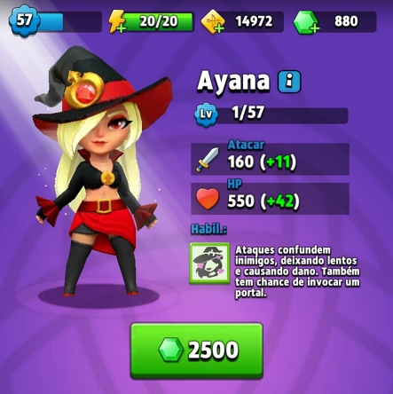Ayana - Guia dos melhores heróis do jogo archero