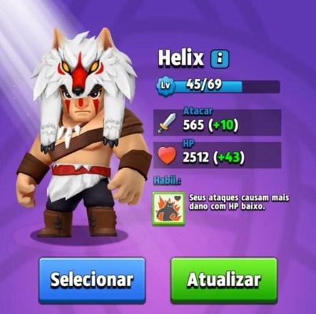 Melhores Heróis de Archero - Helix