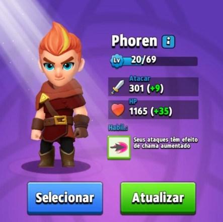Melhores Heróis de Archero - Phoren