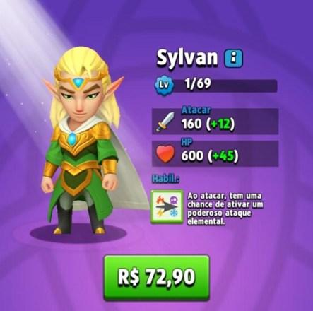 Melhores Heróis de Archero - Sylvan