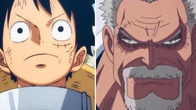 Reprodução/Divulgação: Luffy e Garp - One Piece.