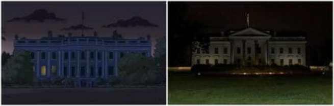 Apagão na Casa Branca, Os Simpsons, Trump Presidente