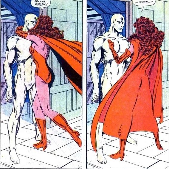 Arco do Visão e da Wanda nos Quadrinhos