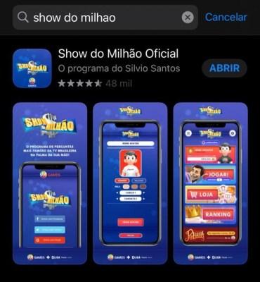 Aplicativo Show do Milhão-1