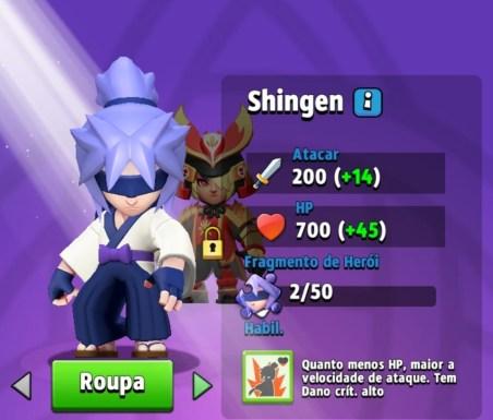 Heróis Archero - Shingen