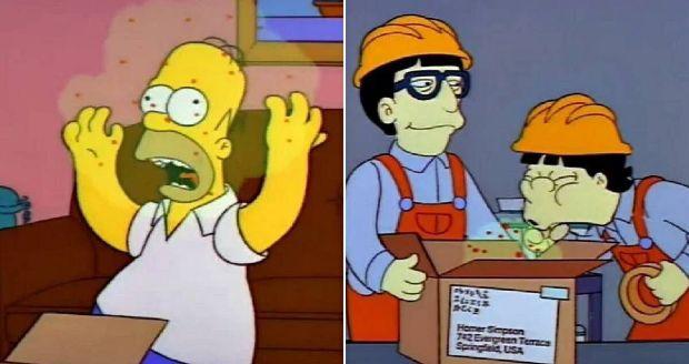 Gripe de Osaka, Simpsons