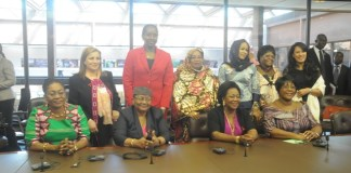 Mrs Lordina Mahama in a group picture with other African First Ladies at the Ford Foundation workshop on HIV and AIDS