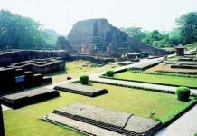 Ruins of the ancient Nalanda University in Bihar. File photo