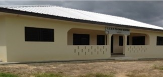 Front view of the facilities