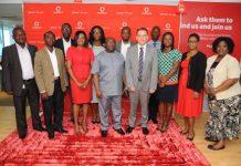 Dept Coms Minister with Vodafone Management