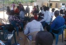 A cross-section of delegates at the polling station
