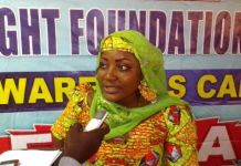 Project Coordinator Hawa Suleimana in an interview with the press