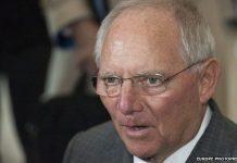 finance minister Wolfgang Schaeuble