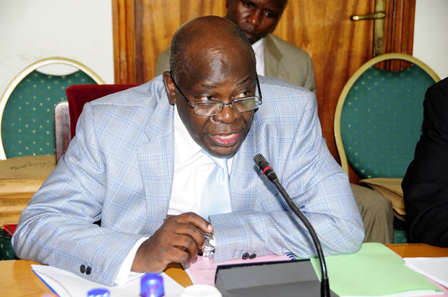 Muganzi appears before the parliamentary probe committee in October last year. (Photo credit: Enock Kakande)