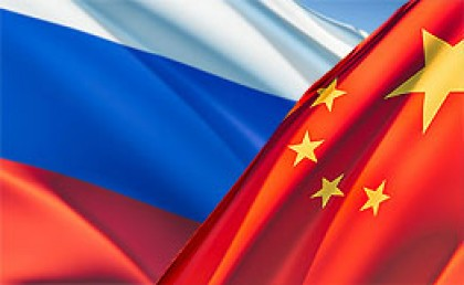 China and Russia flags