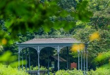 File photo provided by the United Nations Educational, Scientific and Cultural Organization (UNESCO) shows the Swan Lake Gazebo in the Singapore Botanic Gardens. The Singapore Botanic Gardens is now a UNESCO World Heritage Site after it was inscribed at the 39th session of the World Heritage Committee in Bonn, Germany, local TV Channel NewsAsia reported on July 4, 2015. (Xinhua)
