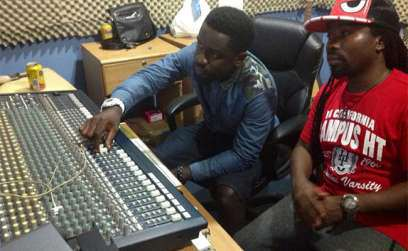 Sarkodie and Obrafour in the studio