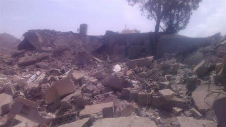 A Yemen hospital destroyed by Saudi airstrikes