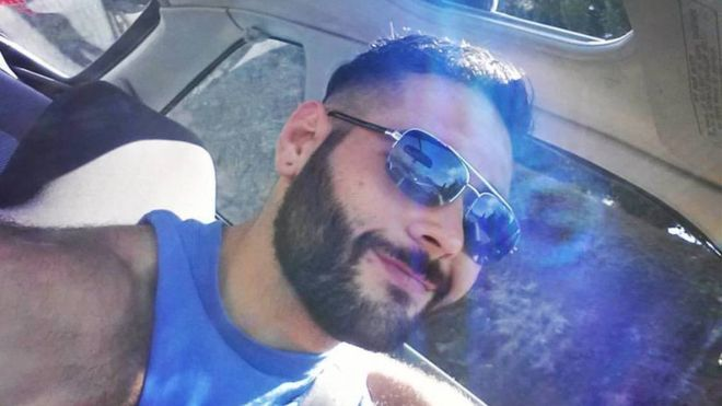 Army veteran Chris Mintz started the day excited to celebrate his son's birthday