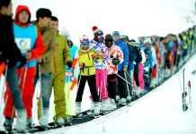 Tourists ski at the Guaipo ski resort in Shenyang, capital of northeast China's Liaoning Province, Nov. 21, 2015. (Xinhua/Zhang Wenkui)
